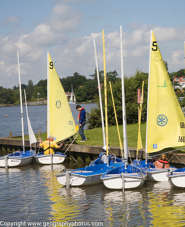 Boats on Oulton Broad, Suffolk, England