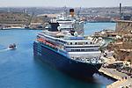 Cruise ships in Grand Harbour, Valletta, Malta