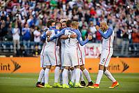 Seattle, WA - Thursday, June 16, 2016: United States forward Gyasi Zardes (9)celebrates his goal during the Quarterfinal of the 2016 Copa America Centenrio at CenturyLink Field.