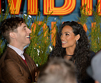 "LOS ANGELES, USA. October 11, 2019: Thomas Middleditch & Rosario Dawson at the premiere of ""Zombieland: Double Tap"" at the Regency Village Theatre.<br /> Picture: Paul Smith/Featureflash"
