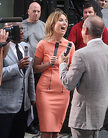 August 15, 2012 Al Roker, Savannah Guthrie, Matt Lauer host of NBC's Today Show Toyota Concert Series at Rockefeller Center in New York City..Credit:&copy; RW/MediaPunch Inc. /NortePhoto.com<br />