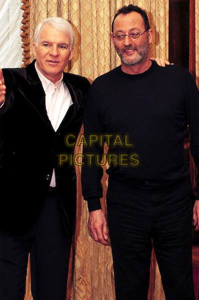 "STEVE MARTIN & JEAN RENO.Photocall for ""The Pink Panther"" at Hotel Hassler, Rome, Italy..February 21st, 2006.Ref: CAV.half length black top jacket.www.capitalpictures.com.sales@capitalpictures.com.© Capital Pictures."