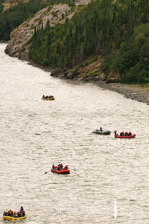 Rafters on the Nenana River enjoying the day and the adventure.