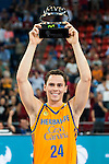 Herbalife Gran Canaria's player Kyle Kuric MVP of the game during the final of Supercopa of Liga Endesa Madrid. September 24, Spain. 2016. (ALTERPHOTOS/BorjaB.Hojas)