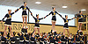 Massapequa performs during the Nassau County varsity cheerleading championships at Wantagh High School on Sunday, Feb. 25, 2018.