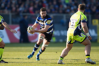 Elliott Stooke of Bath Rugby in possession. Aviva Premiership match, between Bath Rugby and Sale Sharks on February 24, 2018 at the Recreation Ground in Bath, England. Photo by: Patrick Khachfe / Onside Images