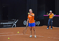 April 15, 2015, Netherlands, Den Bosch, Maaspoort, Fedcup Netherlands-Australia,   Richel Hogenkamp (NED)<br /> Photo: Tennisimages/Henk Koster