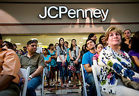 A standing room only crowd watches the Macy's Runway Fashion Show at La Plaza Mall in McAllen, Texas, Saturday, April 3, 2010. Stores within the La Plaza Mall have done well throughout the economic crisis due to its proximity to Mexico and the influx of Mexican tourists who purchase goods to bring back home. ...PHOTO/ Matt Nager