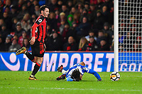 Ivan Toney of Wigan Athletic looks to be fouled by Adam Smith of AFC Bournemouth but no penalty was given   during AFC Bournemouth vs Wigan Athletic, Emirates FA Cup Football at the Vitality Stadium on 6th January 2018