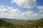 Israel, Lower Galilee, a view of Beit Netofa valley from road 7955