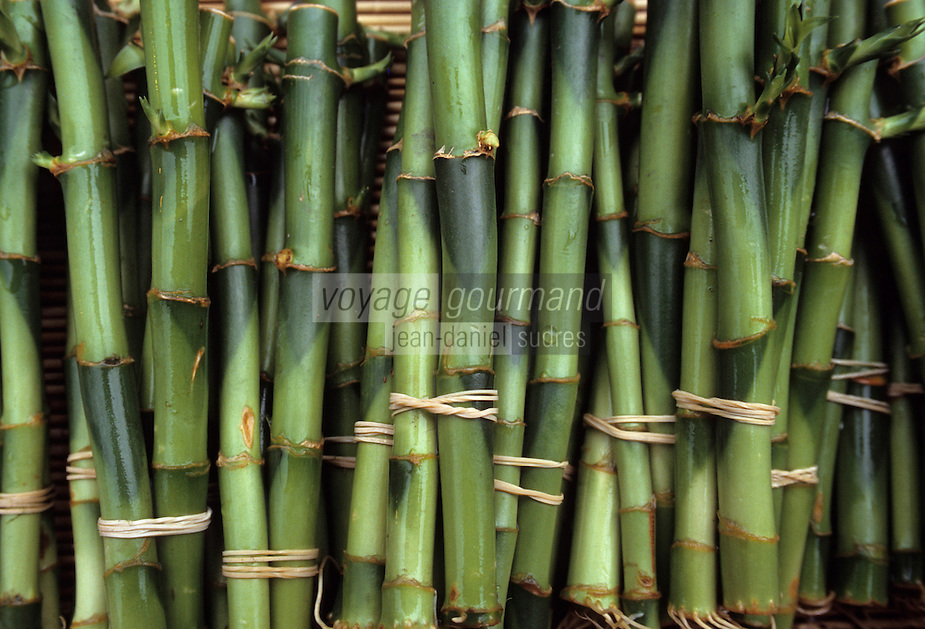 """Asie/Japon/Tokyo/Ueno: Le marché """"Ameyoko"""" - Détail de pousses de bambou"""