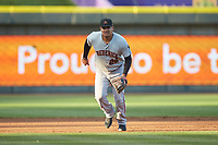 Frederick Keys third baseman Jomar Reyes (26) on defense against the against the Winston-Salem Dash at BB&T Ballpark on April 26, 2019 in Winston-Salem, North Carolina. The Keys defeated the Warthogs 7-0. (Brian Westerholt/Four Seam Images)