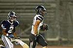 Lawndale, CA 10/18/13 - Rory Hubbard (Peninsula #22) and Jamar Mulligan (Leuzinger #2) in action during the Peninsula vs Leuzinger Varsity football game at Leuzinger High School.