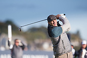 6th October 2017, Carnoustie Golf Links, Carnoustie, Scotland; Alfred Dunhill Links Championship, second round; Former World heavyweight boxing champion Wladimir Klitschko tees off on the second hole on the Championship Links, Carnoustie during the second round at the Alfred Dunhill Links Championship