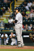 Jupiter Hammerheads third baseman Brian Anderson (9) at bat during a game against the Bradenton Marauders on April 17, 2015 at McKechnie Field in Bradenton, Florida.  Bradenton defeated Jupiter 11-6.  (Mike Janes/Four Seam Images)