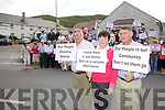 Protesters outside Island View/St Annes Hospital Cahersiveen objecting to the proposed closure of Island View Psychiatric Unit pictured front l-r; Christy O'Connell, Una Sheehan & Jackie O'Sullivan.