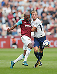 West Ham's Angelo Ogbonna tussles with Tottenham's Harry Kane during the premier league match at the London Stadium, London. Picture date 23rd September 2017. Picture credit should read: David Klein/Sportimage