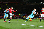 Jesse Lingard of Manchester United launches a shot wide - Manchester United vs West Ham United - Barclay's Premier League - Old Trafford - Manchester - 05/12/2015 Pic Philip Oldham/SportImage