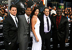 "HOLLYWOOD, CA. - August 06: Channing Tatum, Marlon Wayans, Rachel Nichols, Director Stephen Sommers and Adewale Akinnuoye-Agbaje arrive at a special screening of ""G.I. Joe: The Rise Of The Cobra"" on August 6, 2009 in Hollywood, California."