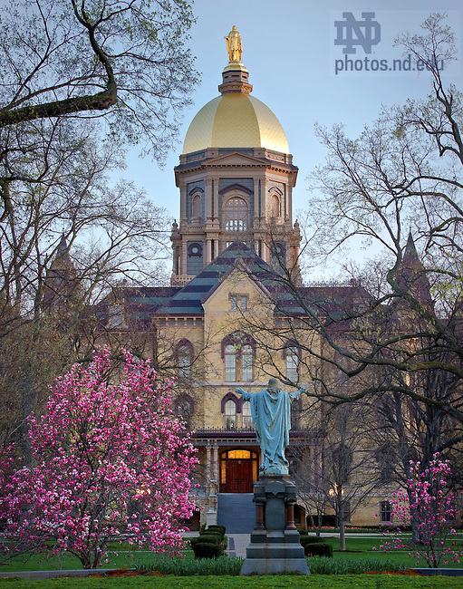 Apr. 9, 2010; Dome in Spring, 2010. Sized for 11x14 print...Photo by Matt Cashore/University of Notre Dame