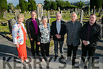 l-r  Mairead Fernane, Church of Ireland Bishop Kenneth Kearon, Betty Groves, Fr. Patsy Lynch, Fr. Joe Hardy and Mark Moriarty at the St John's Cemetery Annual Mass on Thursday