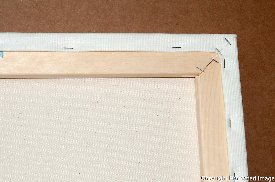 Kodak Edura Metallic Paper bonded to Museum Quality Canvas on Wooden Stretcher Frame, Can be displayed as is or perfect for a Floating Frame, Example of back of Canvas on Wooden Stretcher Frame