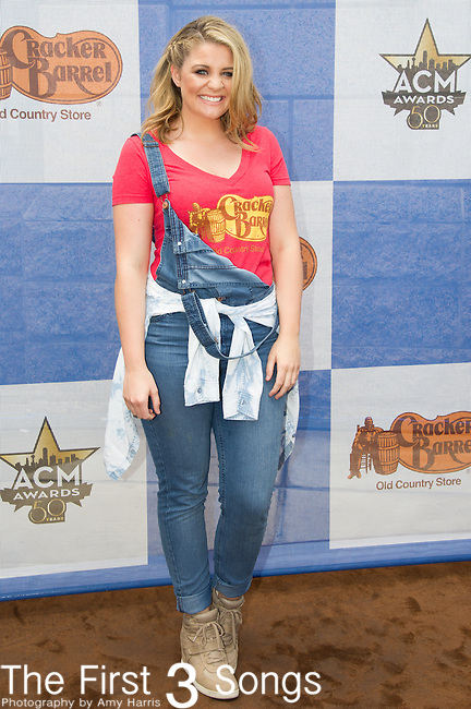 Lauren Alaina attends the Cracker Barrel Old Country Store Country Checkers Challenge at Globe Life Park in Arlington on April 18, 2015 in Arlington, Texas