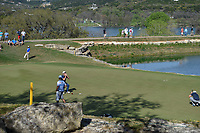 Jon Rahm (ESP) reacts to barely missing his birdie putt on 11 during round 1 of the World Golf Championships, Dell Match Play, Austin Country Club, Austin, Texas. 3/21/2018.<br /> Picture: Golffile | Ken Murray<br /> <br /> <br /> All photo usage must carry mandatory copyright credit (&copy; Golffile | Ken Murray)