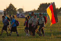Belgian scouts going to the IST opening ceremony. Photo: Magnus Fröderberg/Scouterna