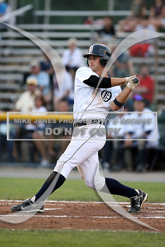 July 7th 2008:  Shortstop Brandon Douglas of the Oneonta Tigers, Class-A affiliate of Detroit Tigers, during a game at Damaschke Field in Oneonta, NY.  Photo by:  Mike Janes/Four Seam Images