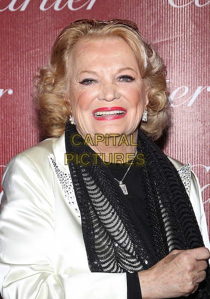 PALM SPRINGS, CA - JANUARY 4: Gena Rowlands at 25th Annual Palm Springs International Film Festival Film Awards Gala on  January 4, 2014 at Palm Springs Convention Center, California. Credit: RTNUPA/MediaPunch Inc.<br /> CAP/MPI/JO<br /> &copy;Janice Ogata/MPI/Capital Pictures