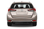 Straight rear view of 2015 Toyota Auris Touring Sports Dynamic 5 Door Wagon Rear View  stock images