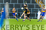 Brian Looney Dr Crokes in action against Mark Crowley Kenmare District in the Senior County Football Championship final at Fitzgerald Stadium on Sunday.