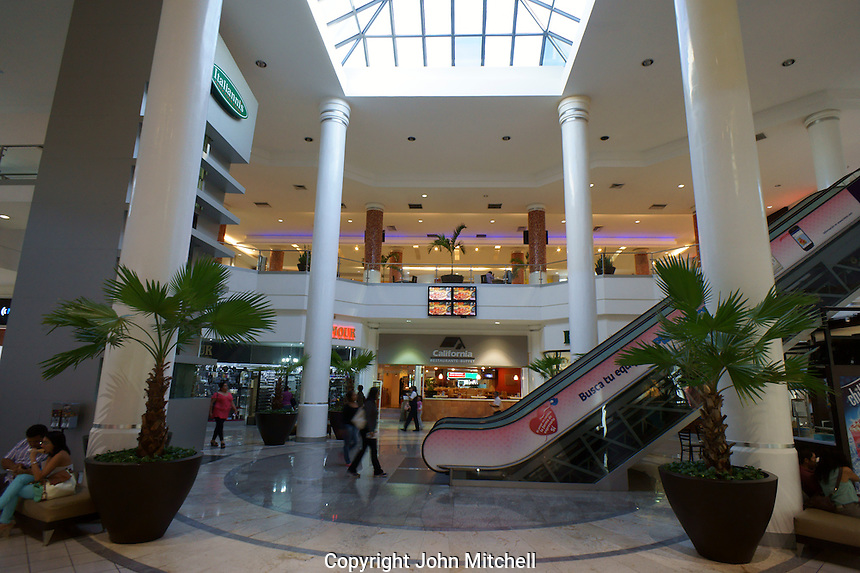 Interior of the Gran Plaza shopping mall on Paseo de Montejo  in Merida, Yucatan, Mexico...