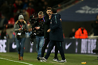Tottenham Hotspur manager Mauricio Pochettino and Chelsea manager Maurizio Sarri after  Tottenham Hotspur vs Chelsea, Caraboa Cup Football at Wembley Stadium on 8th January 2019