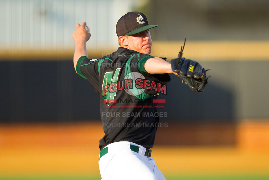 Starting pitcher Micah Bryan #44 of the Charlotte 49ers in action against the Wake Forest Demon Deacons at Gene Hooks Field on March 22, 2011 in Winston-Salem, North Carolina.   Photo by Brian Westerholt / Four Seam Images