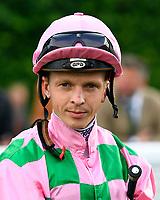 Jockey David Probert during Evening Racing at Salisbury Racecourse on 3rd September 2019