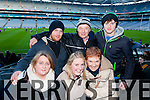 Front from left: Mary Roche Siobhan Keane and Geraldine Collins. Back from left: Eoin Egan, Gerard Collins and John Corcoran Ardfert supporters at the Intermediate All Ireland Club Final in Croke Park on Saturday.