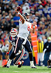 1 November 2009: Houston Texans' quarterback Matt Schaub makes a forward pass in the first quarter against the Buffalo Bills at Ralph Wilson Stadium in Orchard Park, New York, United States of America. The Texans defeated the Bills 31-10. Mandatory Credit: Ed Wolfstein Photo
