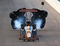 Feb 23, 2018; Chandler, AZ, USA; NHRA top fuel driver Mike Salinas during qualifying for the Arizona Nationals at Wild Horse Pass Motorsports Park. Mandatory Credit: Mark J. Rebilas-USA TODAY Sports