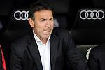 Granada´s coach Abel Resino during 2014-15 La Liga match between Real Madrid and Granada at Santiago Bernabeu stadium in Madrid, Spain. April 05, 2015. (ALTERPHOTOS/Luis Fernandez)