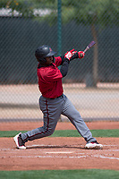 Arizona Diamondbacks second baseman Keshawn Lynch (7) at bat during an Extended Spring Training game against the Cleveland Indians at the Cleveland Indians Training Complex on May 27, 2018 in Goodyear, Arizona. (Zachary Lucy/Four Seam Images)
