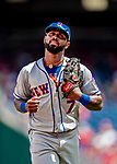 1 August 2018: New York Mets infielder Jose Reyes trots back to the dugout during a game against the Washington Nationals at Nationals Park in Washington, DC. The Nationals defeated the Mets 5-3 to sweep the 2-game weekday series. Mandatory Credit: Ed Wolfstein Photo *** RAW (NEF) Image File Available ***