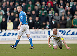 St Johnstone v Celtic.....14.02.15<br /> Steven Anderson walks away after fouling Scott Brown<br /> Picture by Graeme Hart.<br /> Copyright Perthshire Picture Agency<br /> Tel: 01738 623350  Mobile: 07990 594431