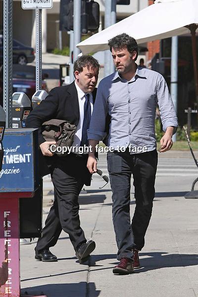 Jennifer_Garner and Ben Affleck had lunch at Tavern restaurant in Brentwood, 13.03.2014.<br /> Credit: Vida/face to face