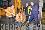 REPARING: Kerry County Council road repair workers reparing the leaks and trying to get the water back on in Turbid More, Ardfert on Friday 31st December 2010, l-r: Phil Casey, Ger Carroll, Jackie O'Connor and Tim Casey...... . ............................... ..........