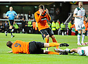 :: DUNDEE UTD'S JON DALY AND DAVID GOODWILLIE RUE ANOTHER MISSED CHANCE ::