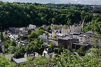 Blick vom Kirchberg auf Clausen, Stadt Luxemburg, Luxemburg