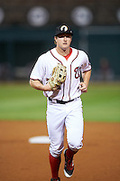 Glendale Desert Dogs Andrew Stevenson (24), of the Washington Nationals organization, during a game against the Salt River Rafters on October 19, 2016 at Camelback Ranch in Glendale, Arizona.  Salt River defeated Glendale 4-2.  (Mike Janes/Four Seam Images)