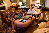 United States President Barack Obama and his daughters Sasha and Malia watch the World Cup soccer game between the U.S. and Japan, from the Treaty Room office in the residence of the White House, Sunday, July 17, 2011..Mandatory Credit: Pete Souza - White House via CNP